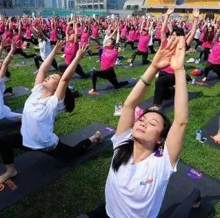 绍兴世茂广场千人瑜伽,2020年7月17日开始啦!